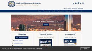 Society of Economic Geologists (SEG)