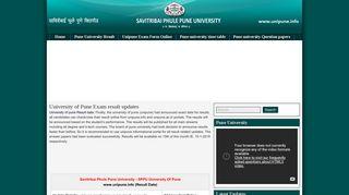 Savitribai Phule Pune University Information Portal & Latest unipune ...