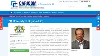 University of Guyana (UG) - Community Institution Profile ...