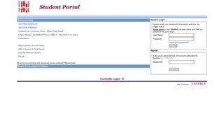 Student Portal: Log in