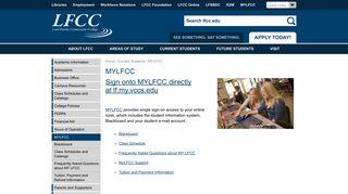 MYLFCC - lf.my.vccs.edu | Lord Fairfax Community College