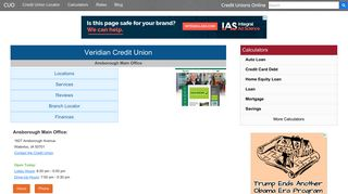 Veridian Credit Union - Waterloo, IA - Credit Unions Online