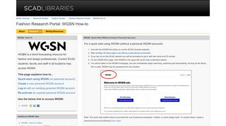 WGSN How-to - Fashion Research Portal - Research Guides at ...