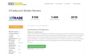 XTrade.com Forex Broker Review: Sign Up Bonus, Spreads & Demo ...