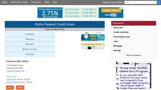 WyHy Federal Credit Union - Cheyenne, WY - Credit Unions Online