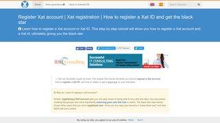 Register Xat account | Xat registration | How to register a Xat ID and ...