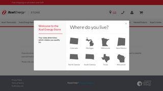 Register or Log-in | Xcel Energy Store