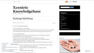 Exchange Mail Setup | Xcentric Knowledgebase