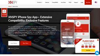 iPhone Spy App - Spy on iPhone Without Jailbreak - Xnspy