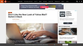 Don't Like the New Look of Yahoo Mail? Switch it Back - groovyPost