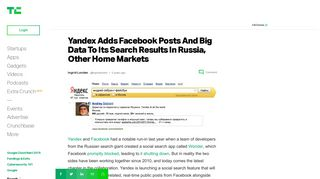 Yandex Adds Facebook Posts And Big Data To Its Search Results In ...