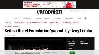 British Heart Foundation 'yoobot' by Grey London - Campaign