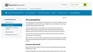 The Learning Place | Education and training | Queensland Government