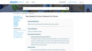 New Updates for Zoom Scheduler for Chrome – Zoom Help Center