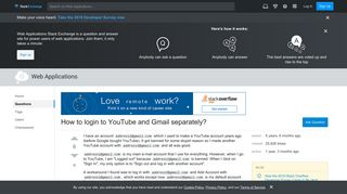 How to login to YouTube and Gmail separately? - Web Applications ...