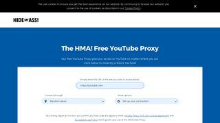 Free YouTube Proxy | Watch Now! | HMA!