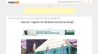 How do I register for ZB Bank Internet banking? - Techzim