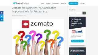 Zomato for Business: FAQs and Other Important Info for Restaurants ...