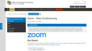Zoom - Web Conferencing   Office of Information Technology