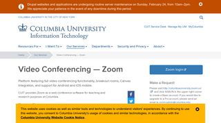 Video Conferencing — Zoom   Columbia University Information ...