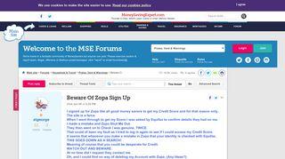 Beware Of Zopa Sign Up - MoneySavingExpert.com Forums