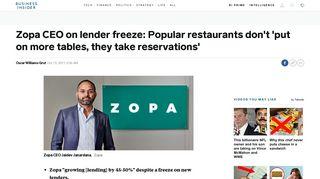 Zopa CEO Jaidev Janardana on sign-up freeze, UK economy, credit ...