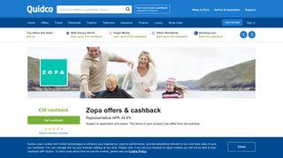 Zopa Cashback, Voucher Codes & Discount Codes   Quidco