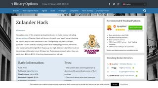 • Zulander Hack Review - The Only Hack Is This Robot •