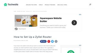 How to Set Up a ZyXel Router | Techwalla.com
