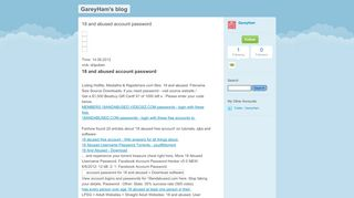 18 and abused account password - GareyHam's blog - TypePad