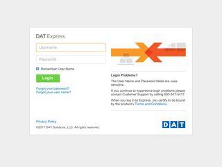 3sixty Express - Login - DAT Express - Login