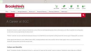 A Career at BGC   Brookshire's Food & Pharmacy