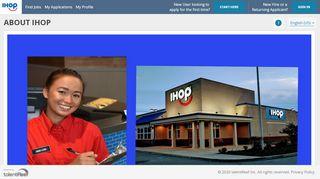 About IHOP - talentReef Applicant Portal