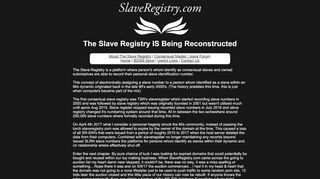 About The Slave Registry