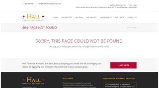 About Wells Fargo Advisors - Hall Financial Advisors