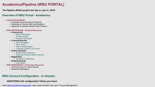 Academica/Pipeline (WSU PORTAL) - Wayne State University ...