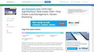 Access arc.foxroach.com. CoreLogic AgentAchieve: Real ...