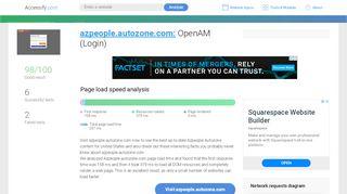 Access azpeople.autozone.com. AutoZone Single Sign-On (Login)