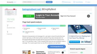 Access beingmybest.net. BenefitSolver - Sign On