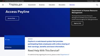 Access Payline - Commonwealth of Virginia