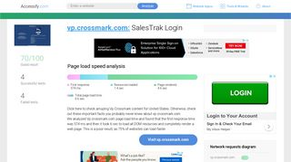 Access vp.crossmark.com. SalesTrak Login
