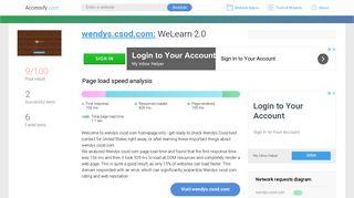Access wendys.csod.com. WeLearn 2.0