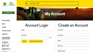 Account Login | Western Equipment
