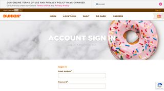 Account Sign In | Dunkin'® - Dunkin' Donuts