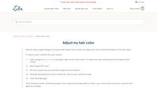 Adjust my hair color - eSalon