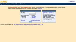 Aetna Provider Web Log In