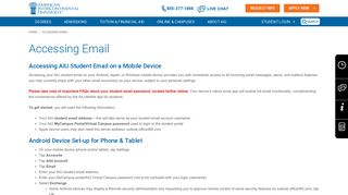 AIU Mobile: Accessing Email