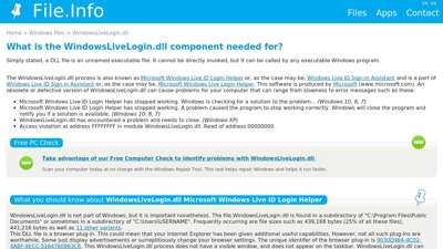 All about WindowsLiveLogin.dll (Microsoft Windows Live ID ...