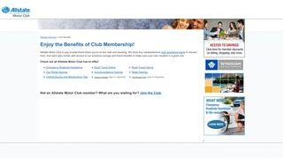 Allstate Motor Club - Membership Plans