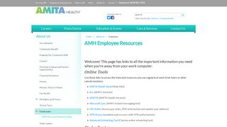 AMH Employee Resources - Adventist Midwest Health